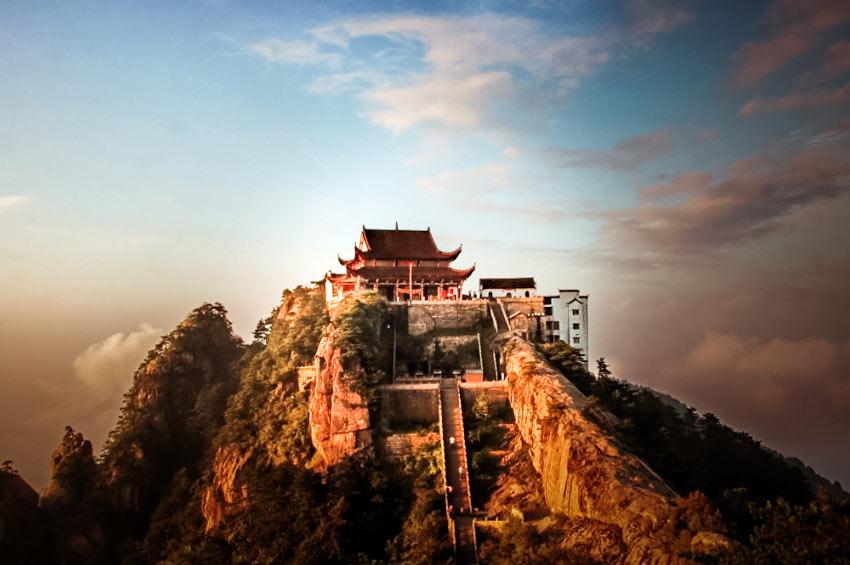 Le mont Tiantai en Chine